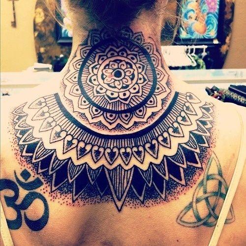 Neck Buddhist Neck Tattoo Girl Back Tattoos Back Tattoo Women
