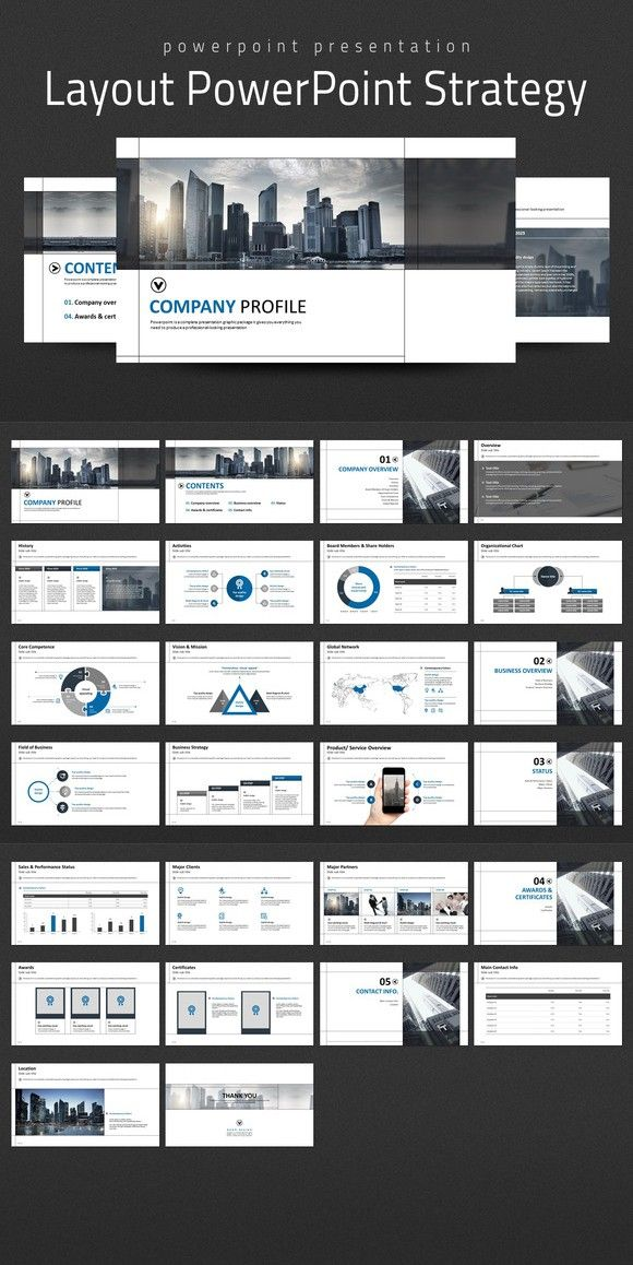Layout PowerPoint Strategy Certificate templates and Company profile - best of certificate templates for powerpoint