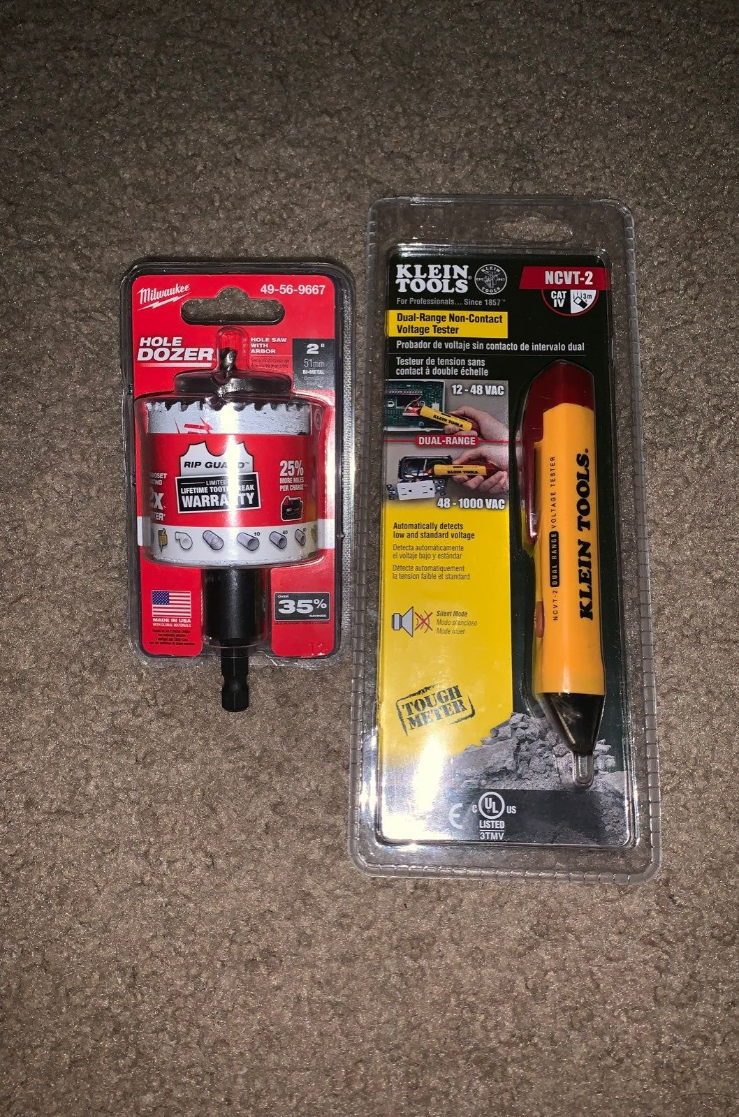 2in Hole Saw Milwaukee And Klein Tools Voltage Tester Ncvt 2 Brand New In Packaging Klein Tools Milwaukee Tools Milwaukee
