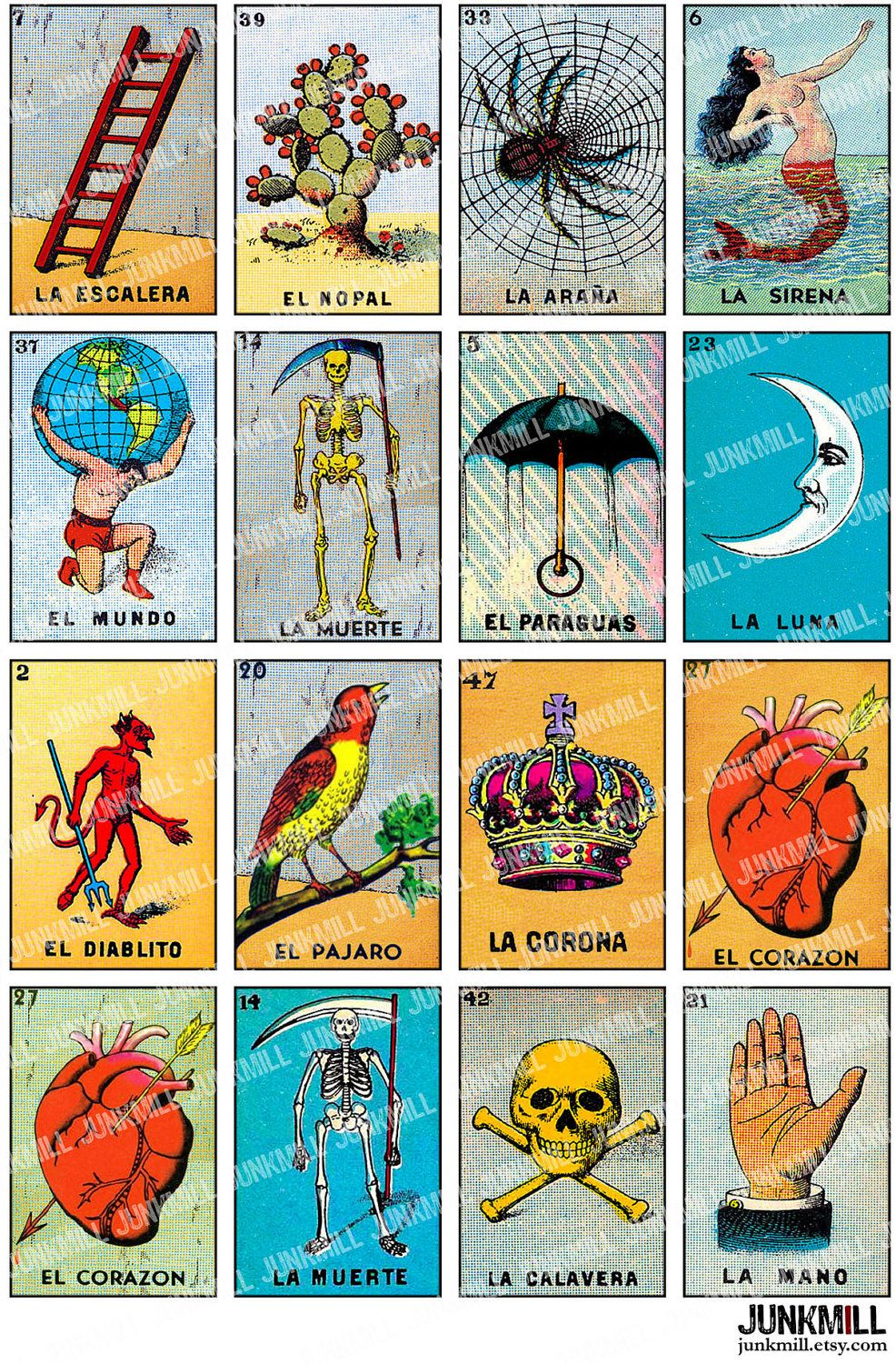 photograph regarding Printable Loteria Mexicana named Loteria Mexican Bingo Playing cards Printable crochet in just 2019