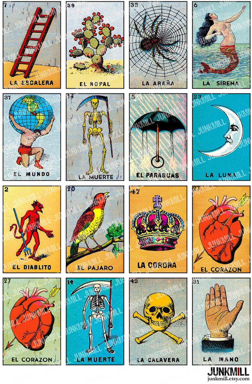 Loteria mexican bingo cards printable loteria cards