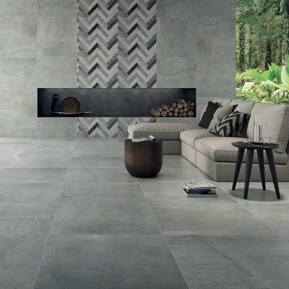 Grey Kinder 60x60 Tiles Rebus Luxury Concrete Effect Tiles Tiles Concrete Tile Floor House Flooring Tile Floor