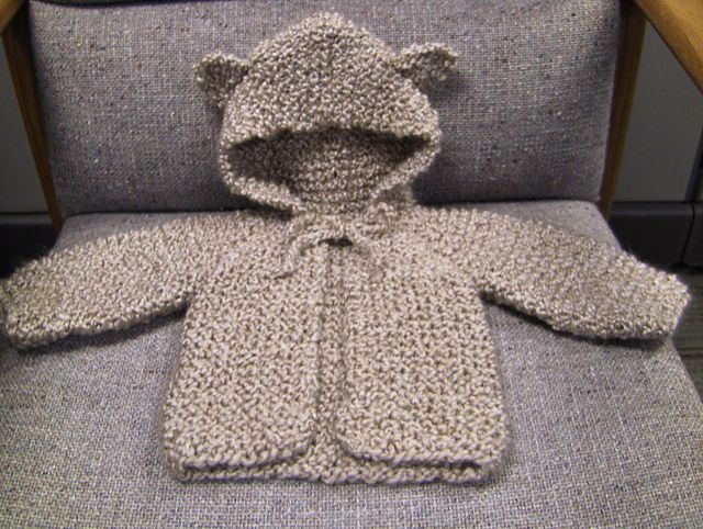 Ravelry Baby Bear Hooded Jacket Pattern By Lion Brand Yarn Free