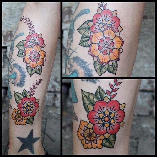 Added some fun blossoms to the @martacatb leg collection. (Taken with Instagram)