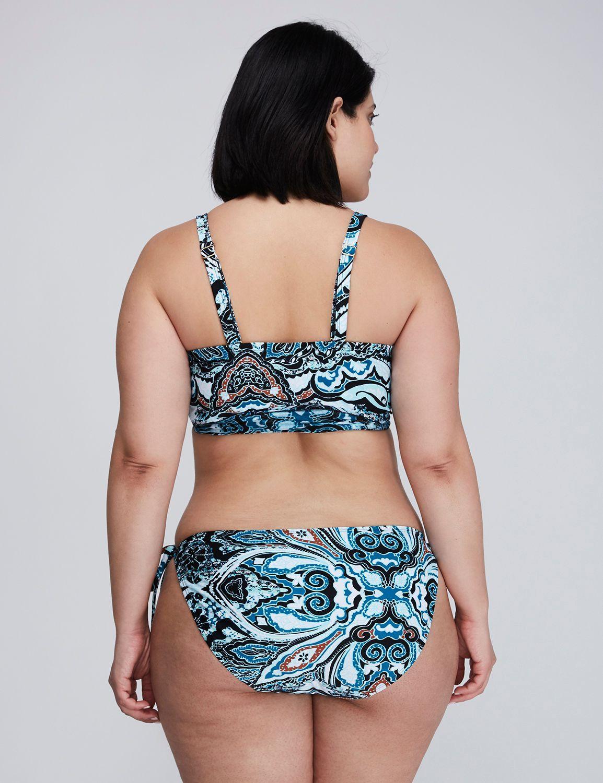 3f5b86333594b7 Longline Wrap Bikini Top with Built-In Plunge Bra