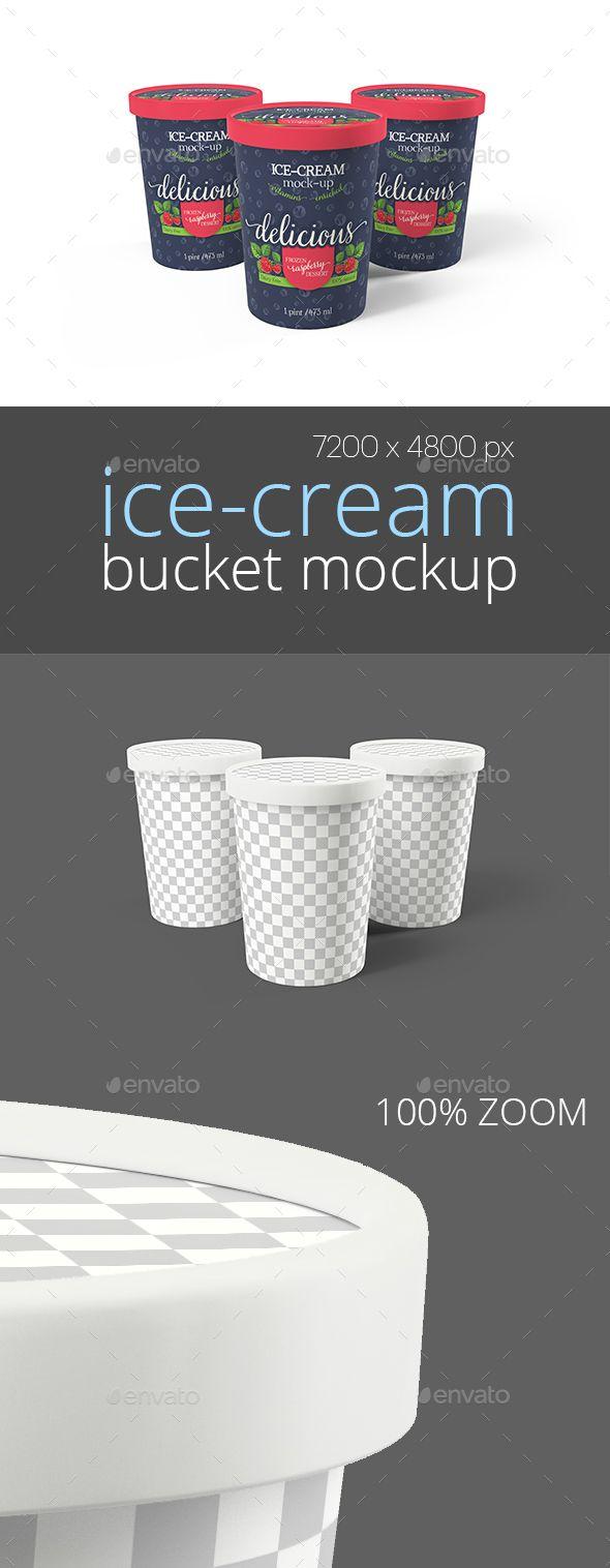 Ice Cream Bucket Packaging Mockup Triple Packaging Mockup Mockup Mockup Design