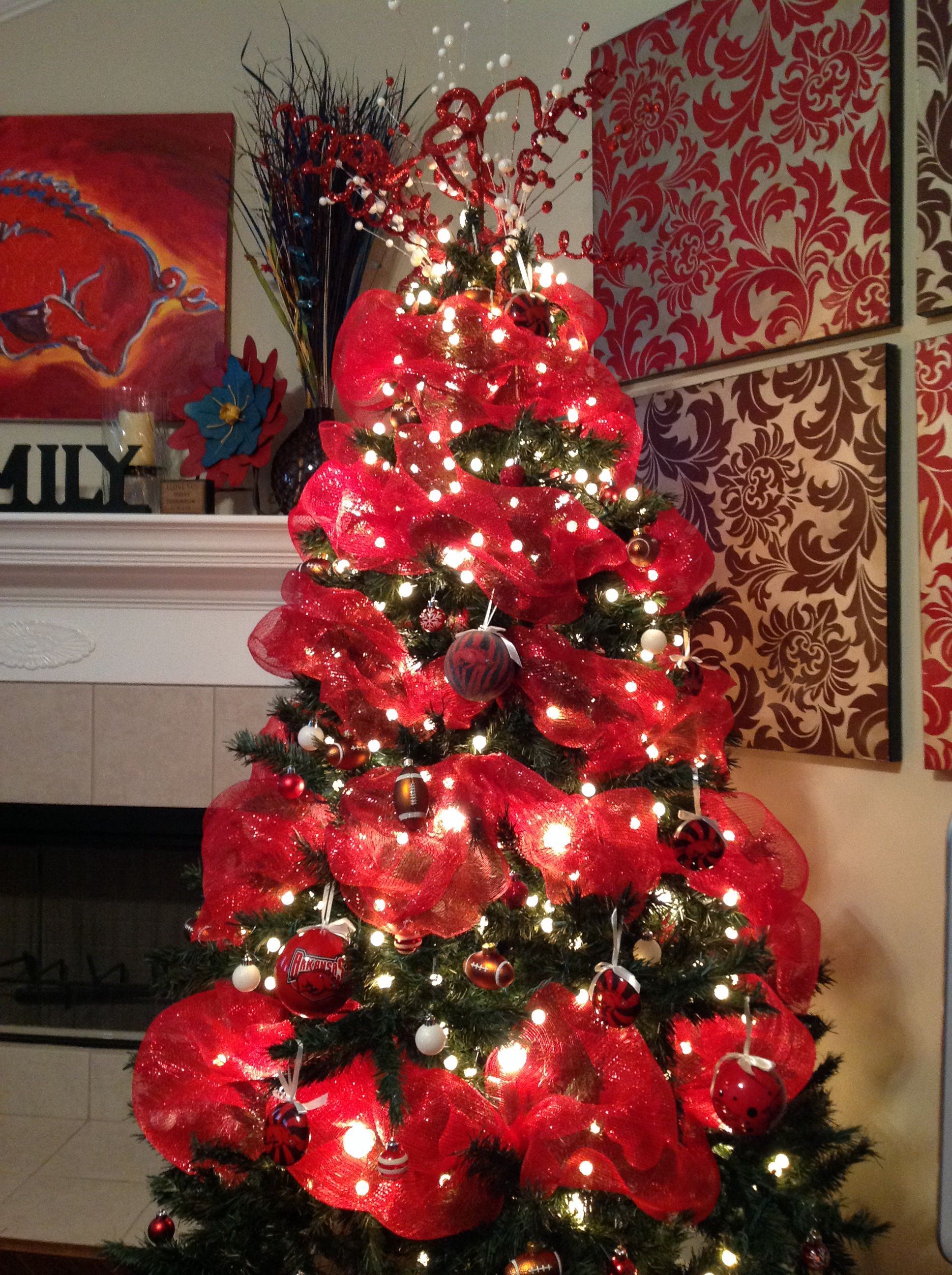 razorbacks christmas arkansas pin tree and razorback the decor
