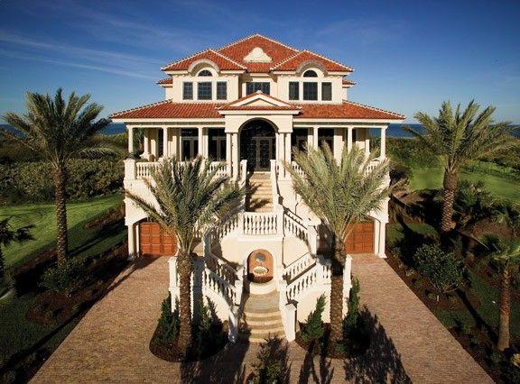 ePlans Mediterranean House Plan Seaside Luxury 7211 Square Feet