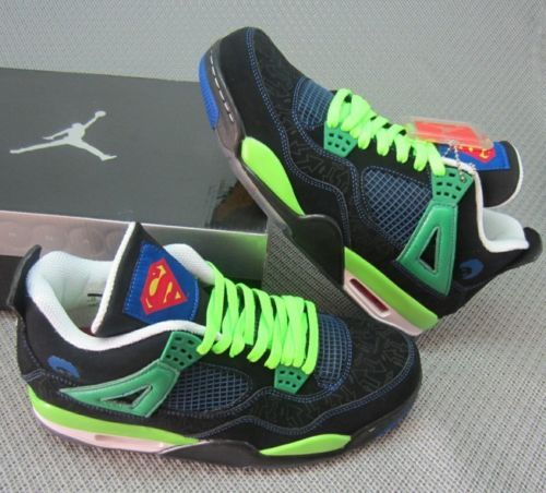 new arrival aba4e d337d Air Jordan 4 IV Retro DB DOERNBECHER Black Green, Superman -  Sneakers