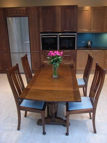 Traditional Dining Table And Chairs In Contemporary Kitchen Diner Captivating Contemporary Kitchen Tables Decorating Design
