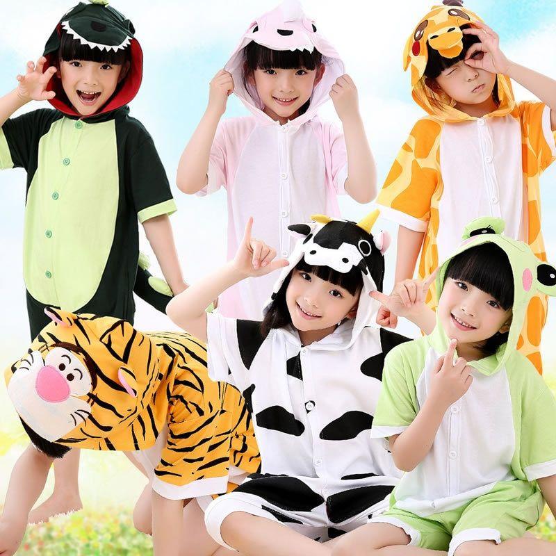 4424b01a8103 Hot sales Cartoon animal Baby pajamas Cos KT Cat Pink Dinosaur ...