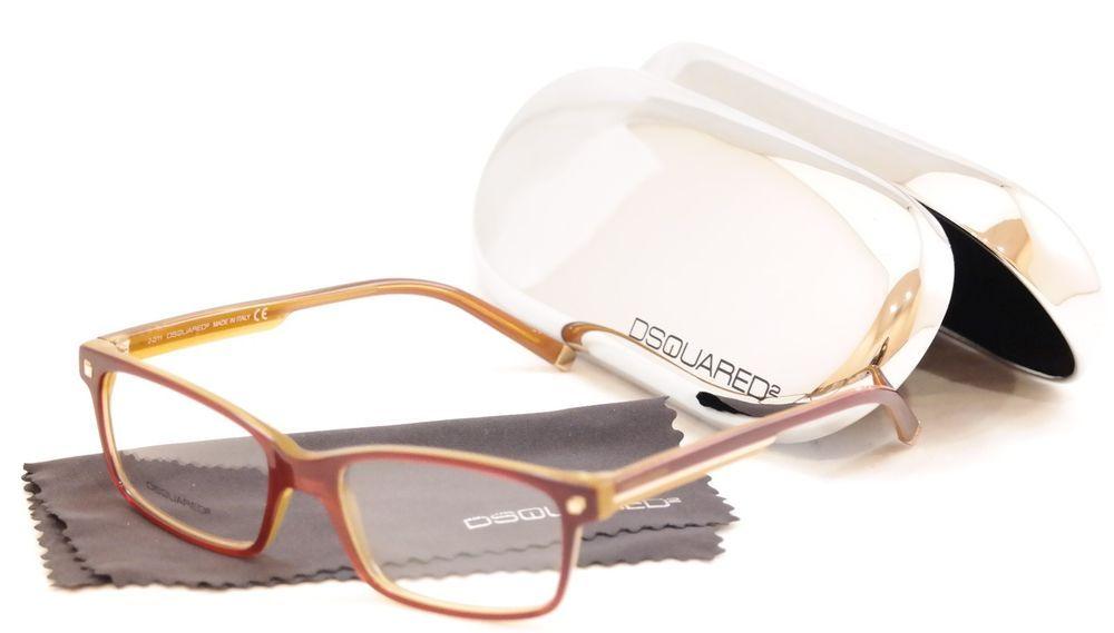 c994d43fdc Dsquared2 Eyeglasses Frame DQ5036 071 Burgundy Honey Plastic Italy 54-17-145   DSQUARED2