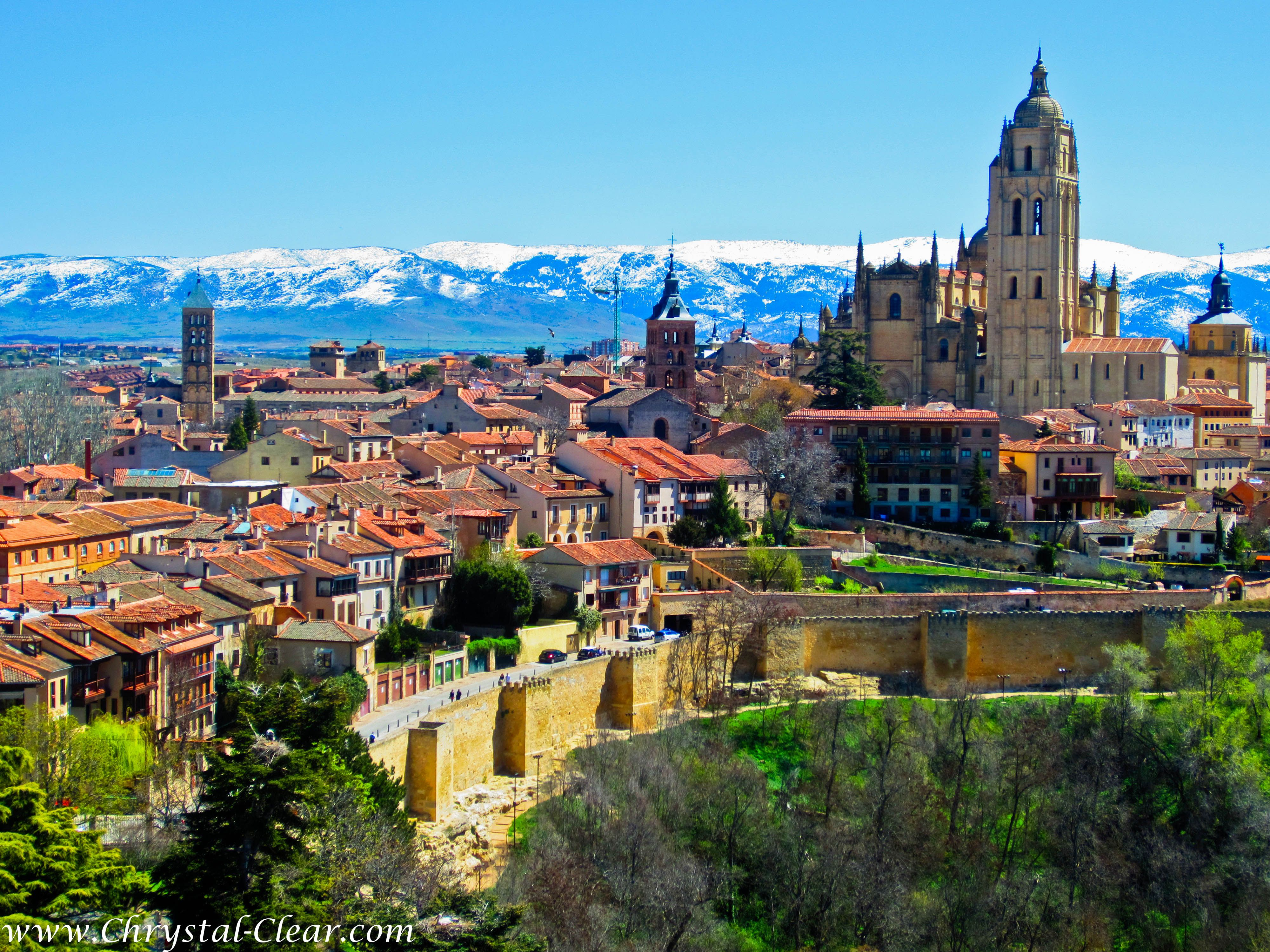 Landscape Of Spain Segovia View From Alcazar 2 300x225