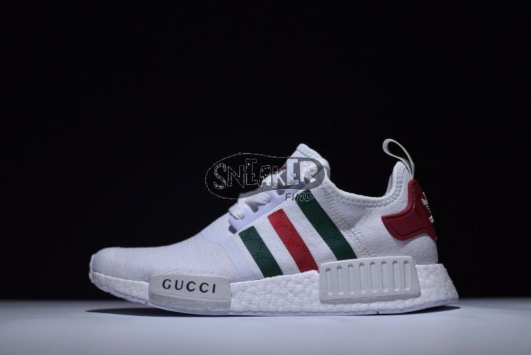 1136f4d94 adidas NMD Custom Gucci white Worldwide shipping is available at our store!  (5-7 reach) Website  www.findsneaker.net Hit me up if you like the shoes.