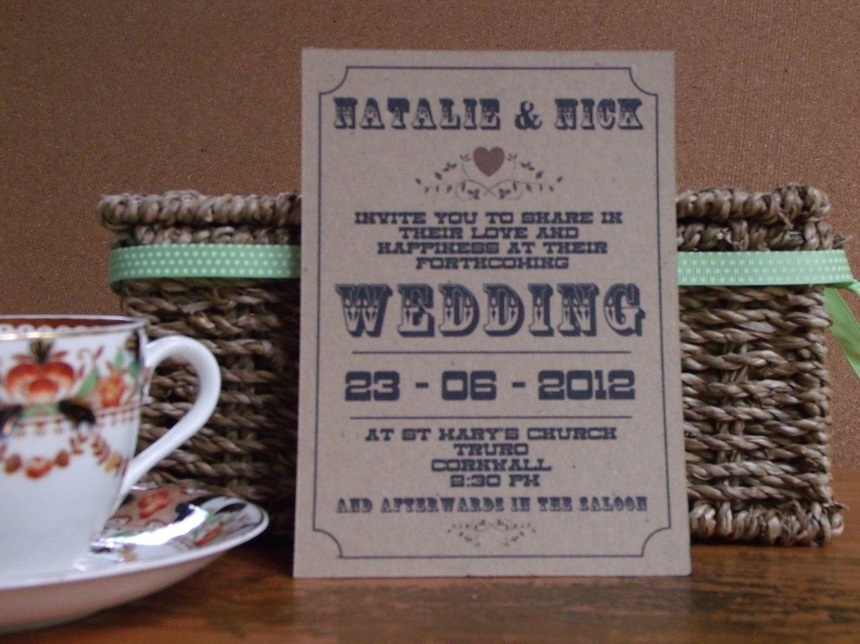 DIY Printable Custom Designed Wedding Invitation
