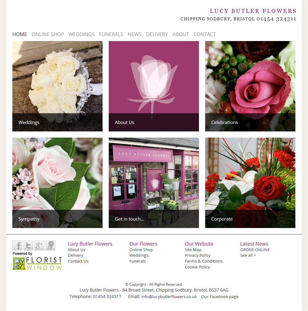 Lucy Butler Flowers In Chipping Sodbury New Website Is Live Laura