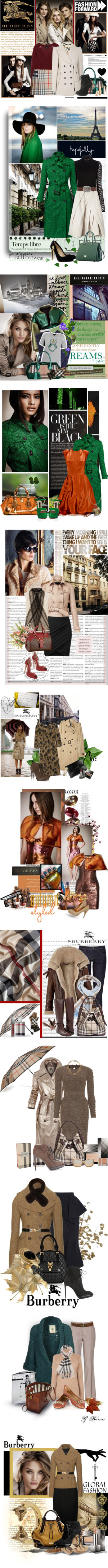 """""""BURBERRY Autumn-Winter 2012/Spring Summer 2013"""" by grazy-love-of-mode ❤ liked on Polyvore"""