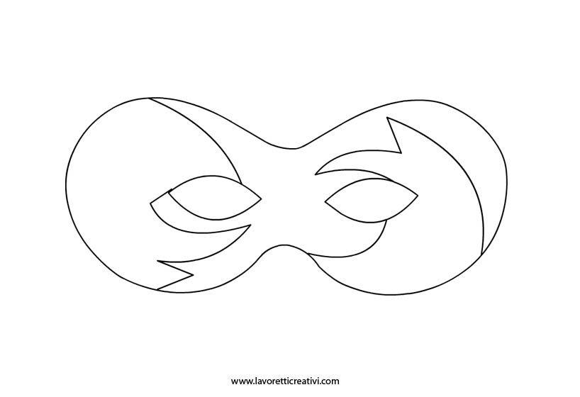 sagoma-maschere-carnevale KARNEVAL Pinterest Mask ideas - face mask templates printable