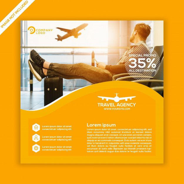 Travel agency social media post template  Premium Vector
