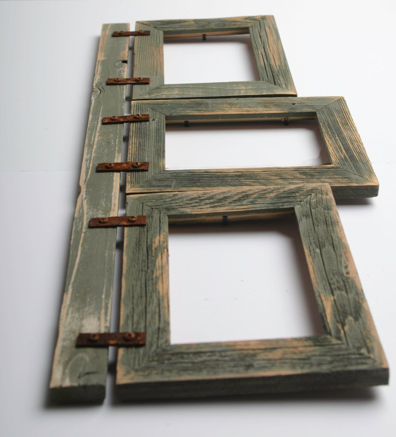 This Collage Frame Is Made From 3 5x7 2 Barnwood Frames