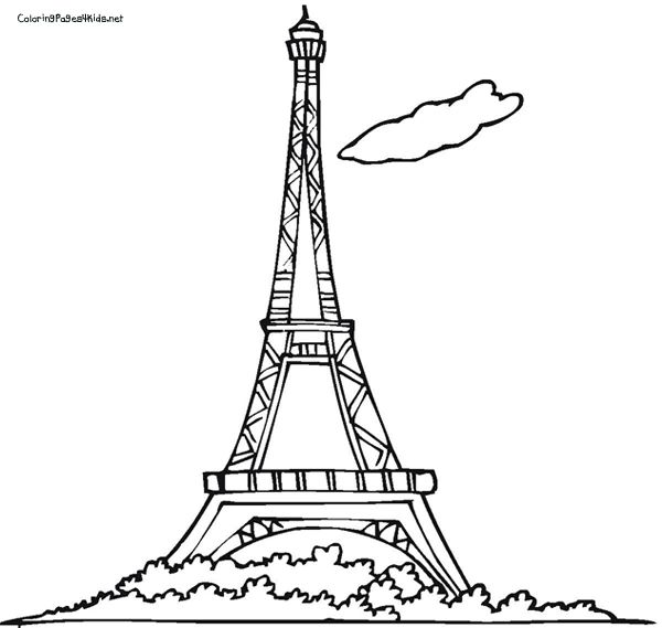 Eiffel Tower Coloring Pages Colorir
