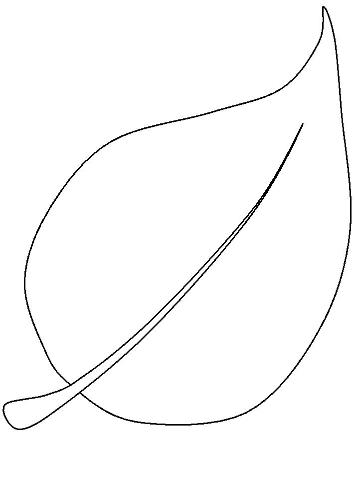 Leaf Outlines Printable