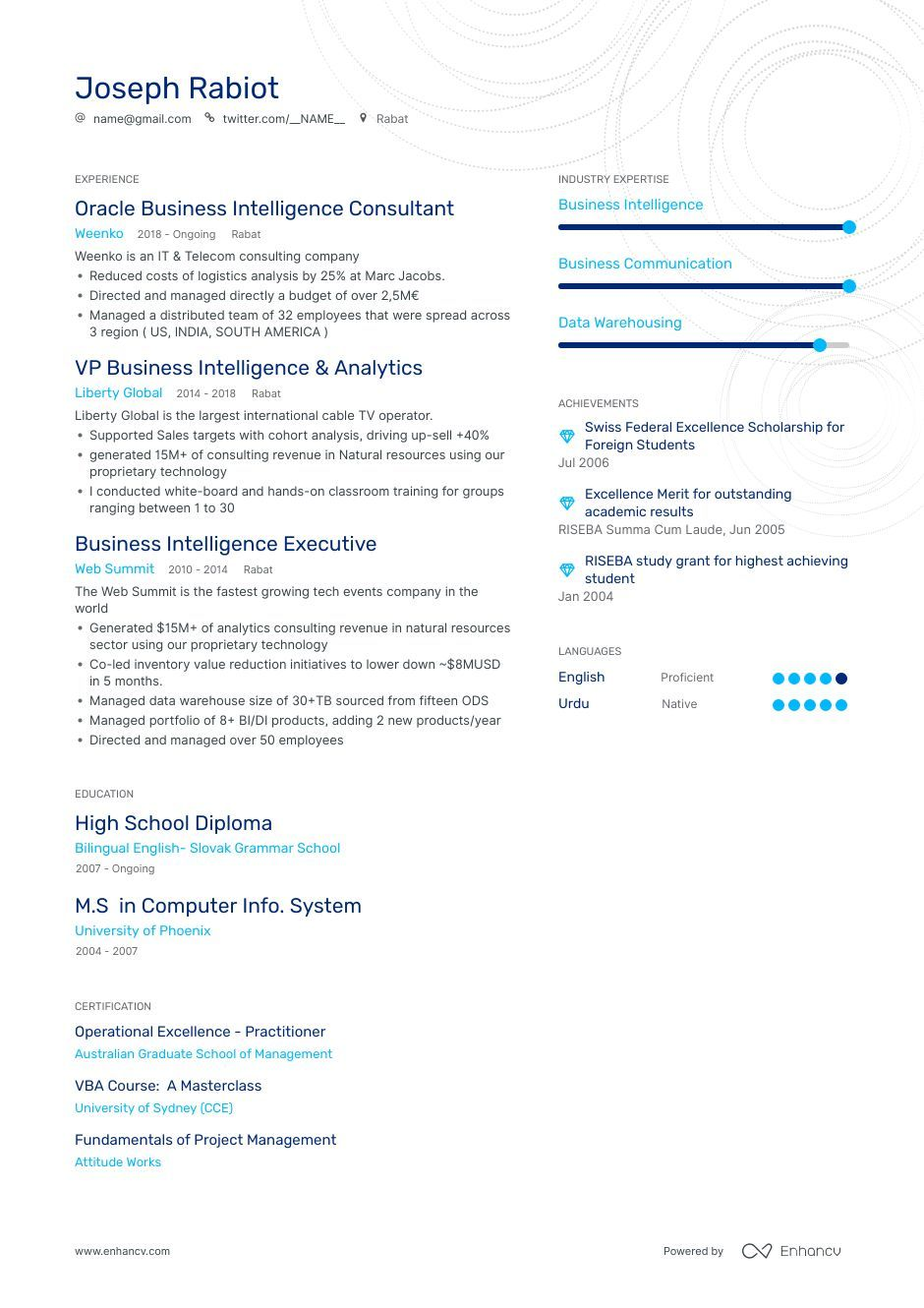 Business Intelligence Resume Examples + Expert Advice
