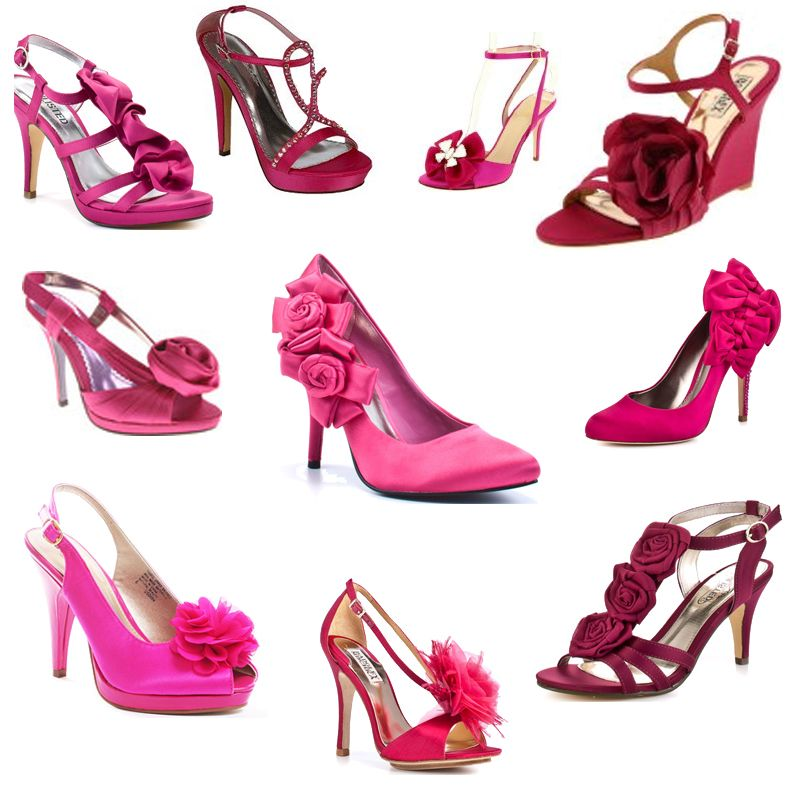 Fuschia And Hot Pink Wedding Shoes