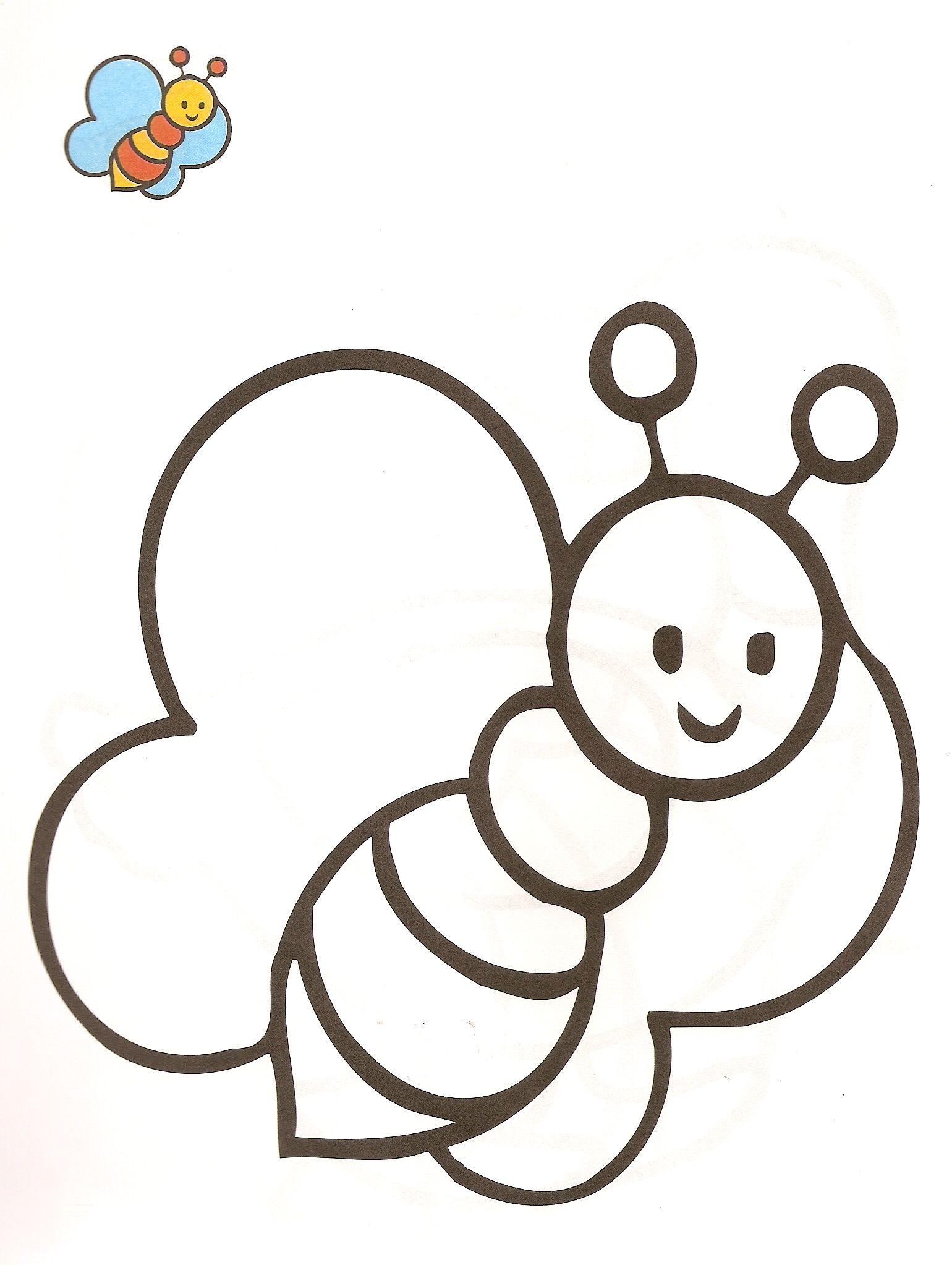 Worksheet. Dibujos de la Abeja maya para colorear y pintar  La abeja maya