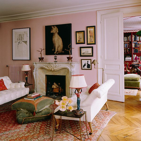 When It Comes To Paint Think Pink Pink Living Room Light Pink