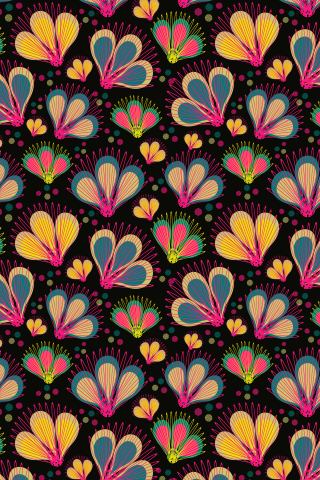 """Fairy Garden"" by Any Placidos. To have a colourlovers pattern printed on fabric, go to http://www.colourlovers.com/store/fabric"