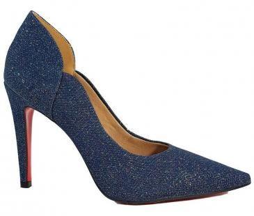 7abc2c88c Sapato Scarpin Feminino Salto Alto Jeans Azul Cód 31 - Dom amazona com as  melhores condições