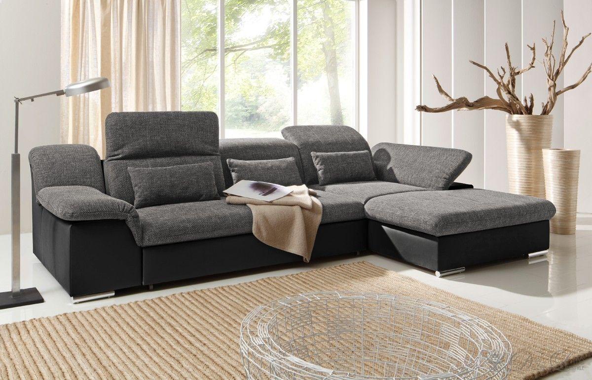 Nice Couch Klax Schwarz Grau Ecksofa Mit Schlaffunktion OT Re Photo