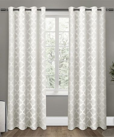 Loving This Vanilla Cartago Insulated Blackout Curtain Panel Set Of 2 On Zulily Zulilyfinds Insulated Blackout Curtains Panel Curtains Home Curtains