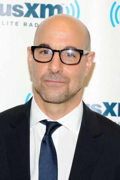 Stanley Tucci doing press in NY. Grooming by Kumi Craig.