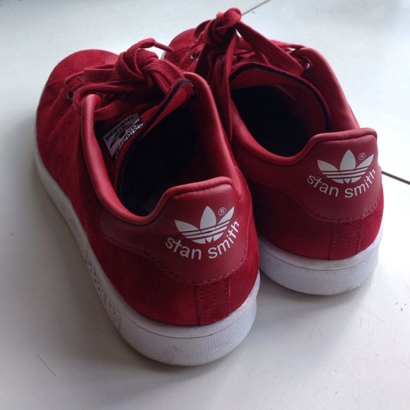 Adidas Con Rita Ora Stan Smith Red Suede Scarpe Stan Smith Rosso