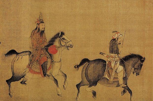 Chinesische Malerei Drei Weiss Haar Alte Manner Chinesische