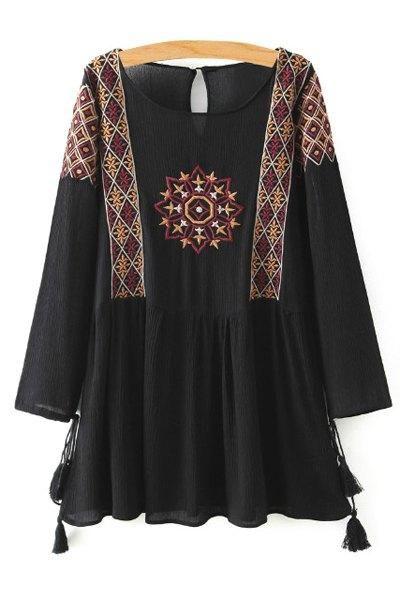 robe courte tunique brodee boho boheme chic d0947 v tements et accessoires pinterest robe. Black Bedroom Furniture Sets. Home Design Ideas