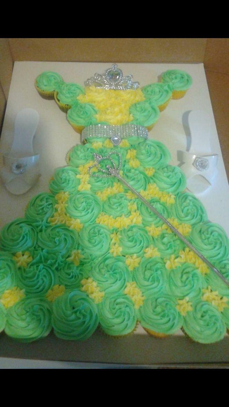 Tremendous Princess Tiana Cupcake Cake Princess Birthday Cupcakes Princess Funny Birthday Cards Online Inifodamsfinfo