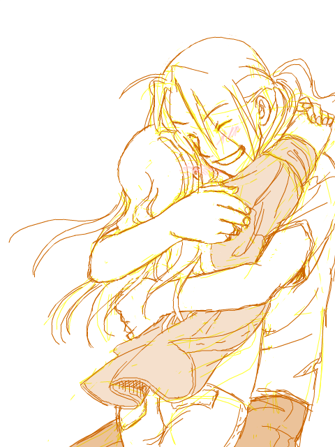 D'awwwwwww. Ed and Winry from FMA by zulenha @ Deviantart.