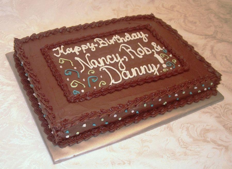 Chocolate Sheet Birthday Cake With Images Sheet Cake