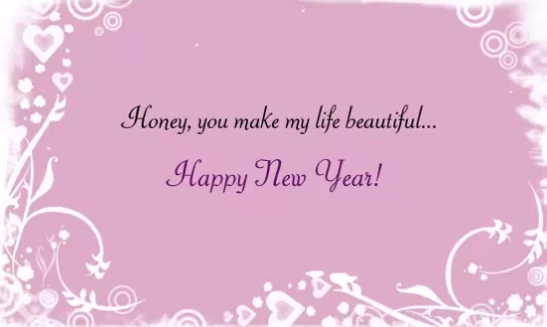romantic new year greeting card to wish your lover