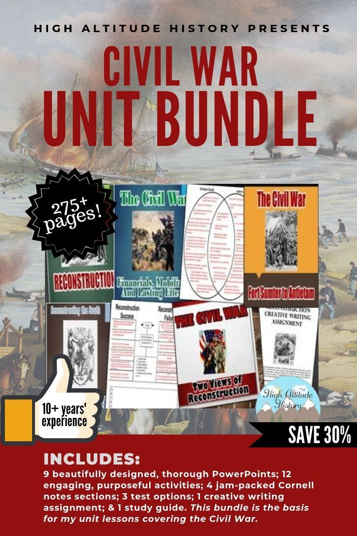 Civil War Unit Bundle (U.S. History) Civil War