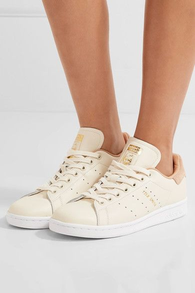 Stan Smith Suede-trimmed Leather Sneakers - White adidas Originals nLJMh