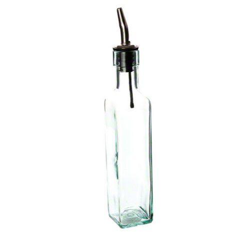 Tablecraft 9085 Green Tint Glass Bottle With Stainless Steel Pourer 8 1 2 Ounce List Price 7 34 Price 5 19 Olive Oil Bottles Oil Bottle Bottle