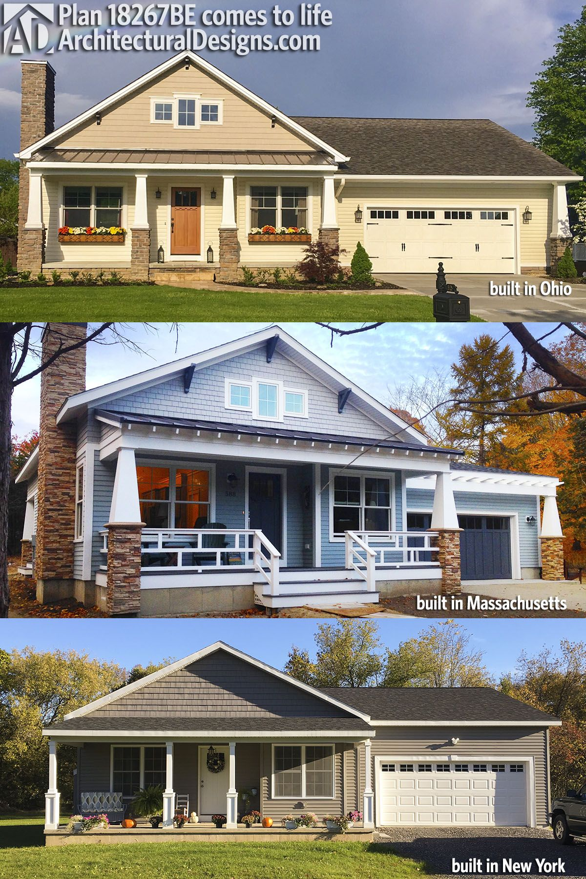 Plan 18267be Simply Simple One Story Bungalow Bungalow House Plans Small Basement Remodel Basement Remodeling