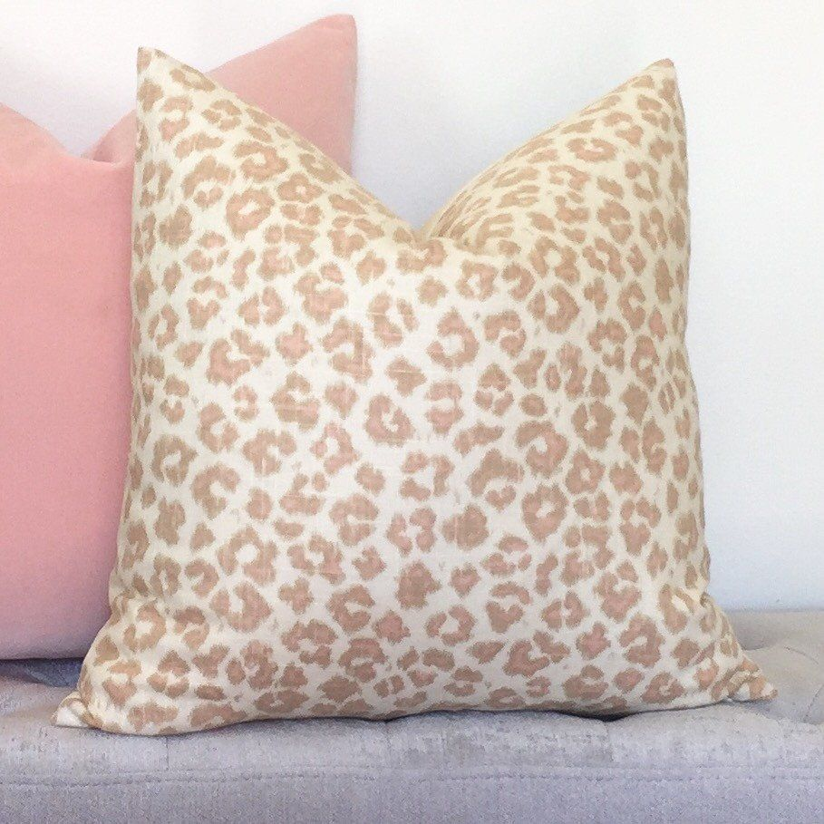 Feline Leopard Pillow Cover - Blush | Kait | Pinterest | Leopards ...