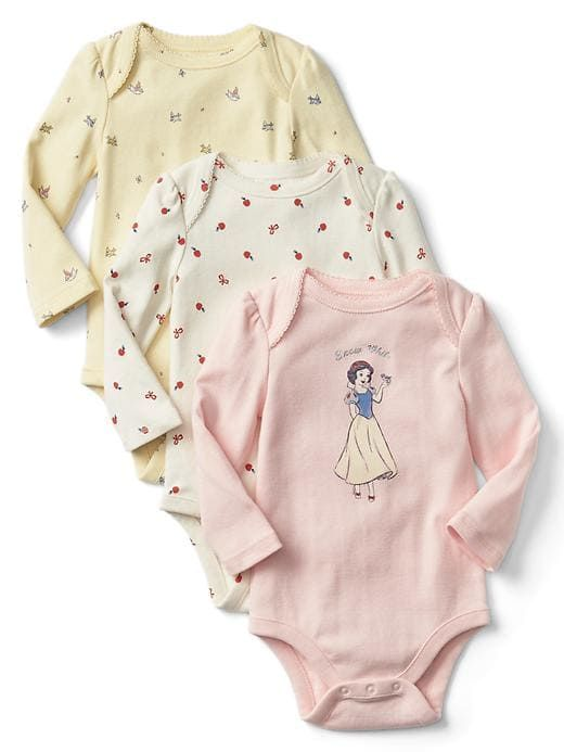 2343fa5c84d3c Gap Baby Babygap | Disney Baby Snow White And The Seven Dwarfs Bodysuit  (3-Pack) Pink Cameo Size 6-12 M