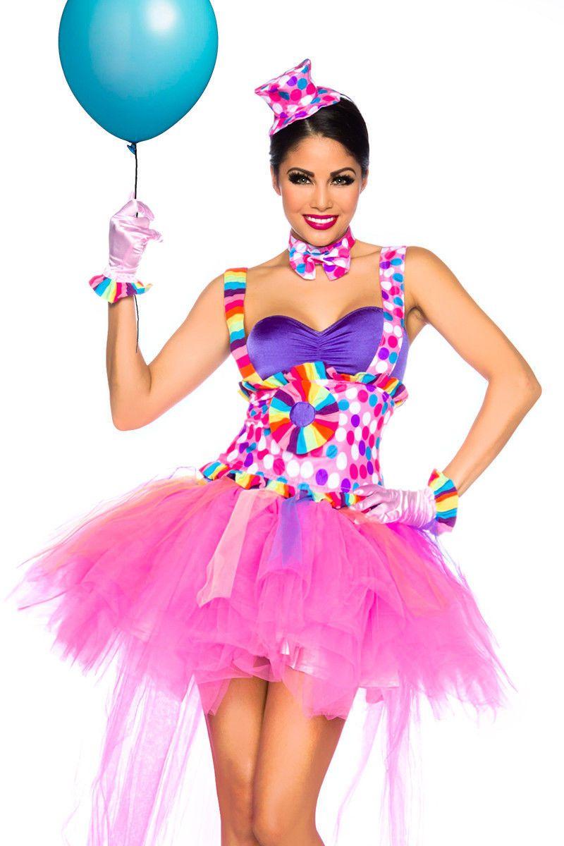 Candy Kostum Cupcake Fee Kostum Clown Kostum Damen Karneval Fasching