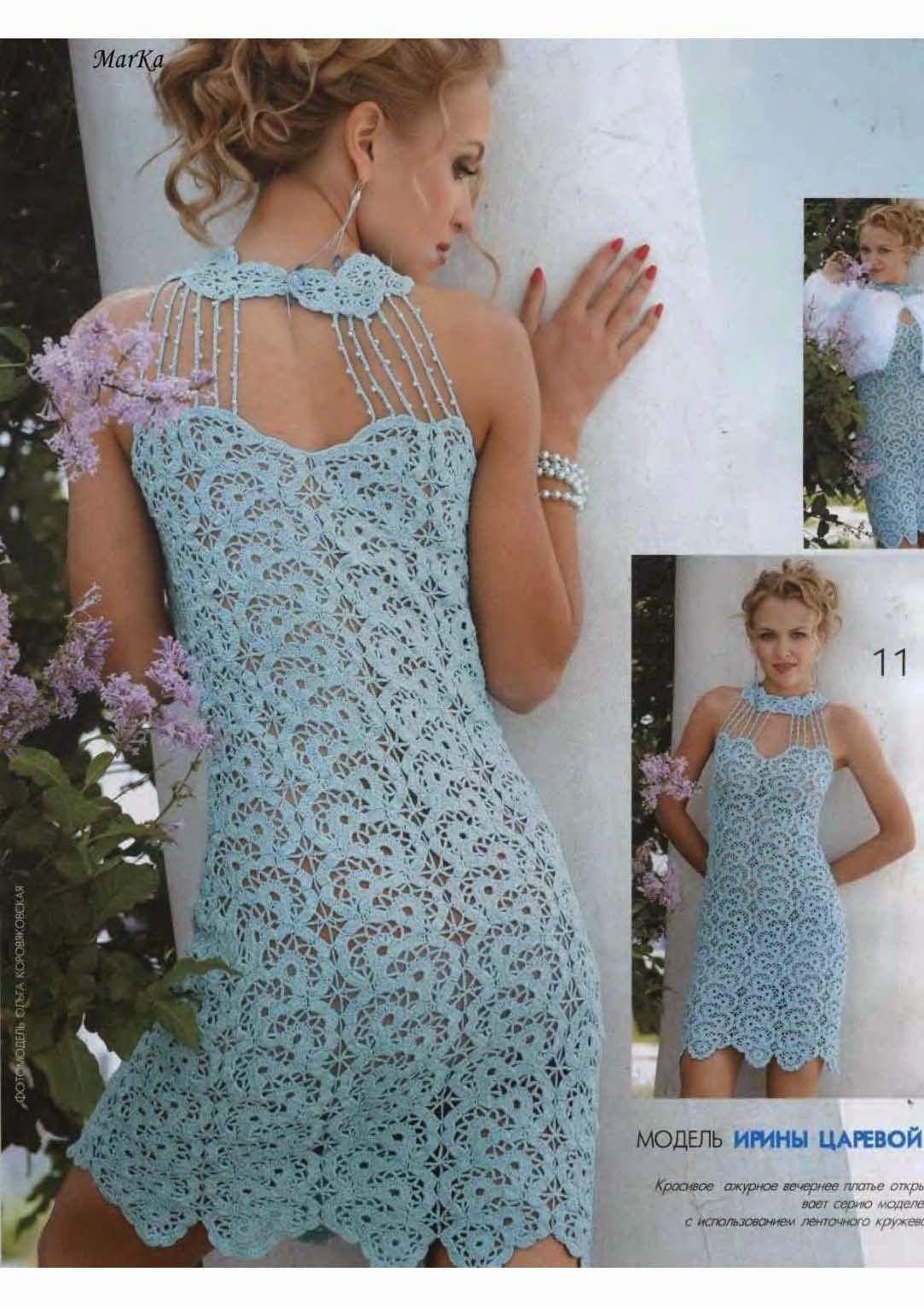 Crochet y dos agujas | Vestidos y Top de Ganchillo | Pinterest | Dos ...